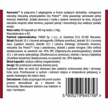 Harmonia YANGO - adaptogeny - 60 kapsułek sklep Warszawa