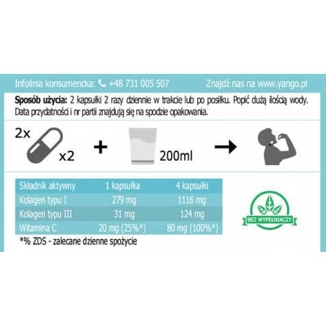 Kolagen Aktywne Peptydy YANGO 120 kapsułek Sklep Warszawa