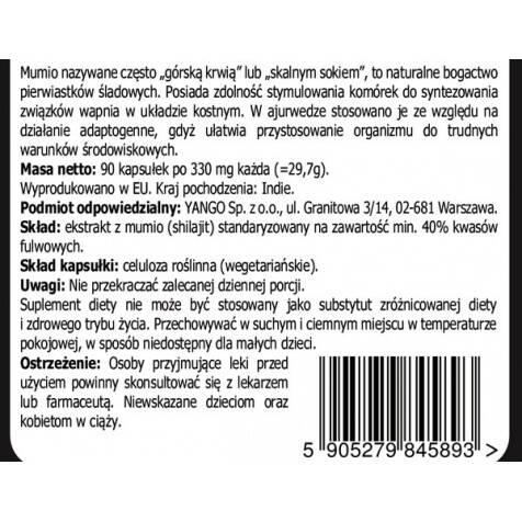 Mumio YANGO - 40% kwasów fulwowych warszawa sklep
