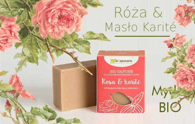 Naturalne Mydło z różą i masłem shea Warszawa Sklep