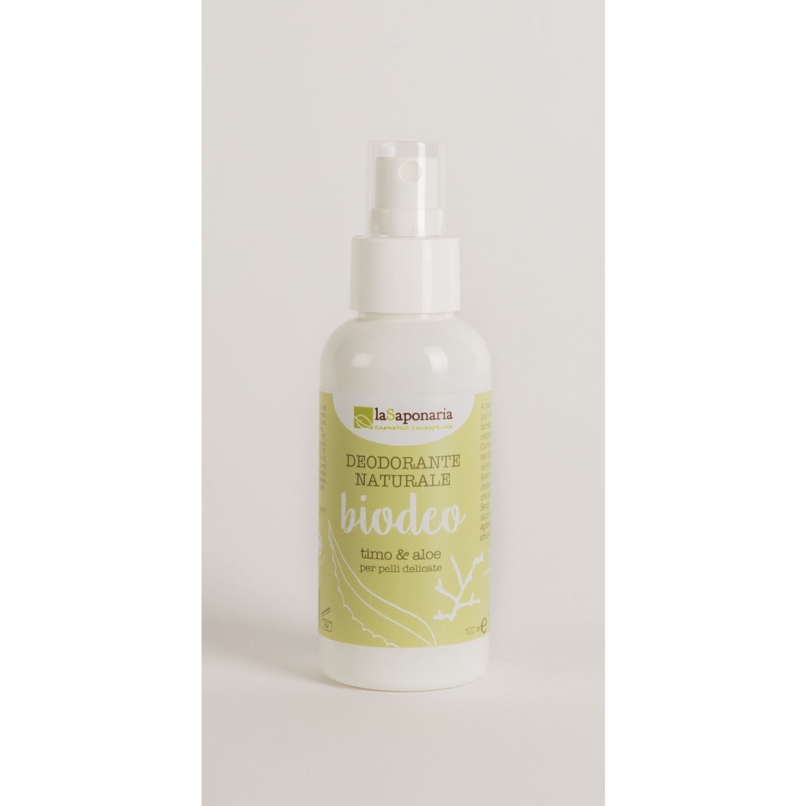 Naturalny Bio Dezodorant bez aluminium Tymianek i Aloes La Saponaria 100ml