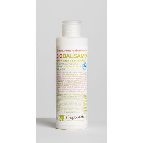 Naturalny balsam do włosów Siemię lniane i Zielona mandarynka La Saponaria 150ml