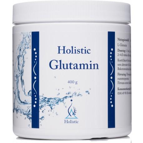 Glutamin Holistic  jest suplementem diety zawierającym glutaminę 400g