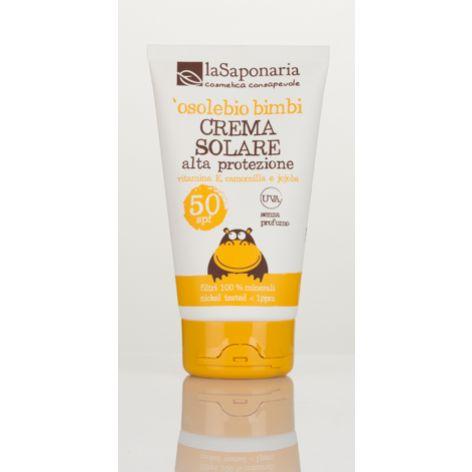 Naturalny Krem do opalania dla dzieci i wrażliwej skóry SPF 50 - O sole BIO La Saponaria 125ml