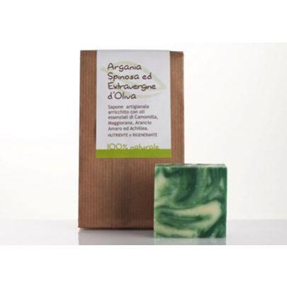 Naturalne odżywcze Mydło regenerujące Argan i Oliwka La Saponaria 50gr