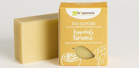 Naturalne bio mydło chmiel i cytryna na trądzik, do skóry młodzieńczej