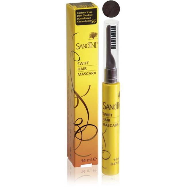 Mascara na odrosty Dark Chestnut S6 Sanotint 14ml
