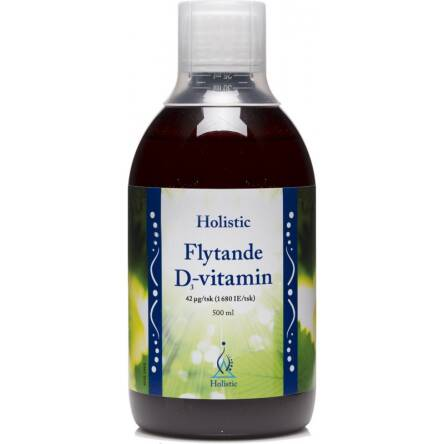Witamina D3 w płynie do picia cholekalcyferol Holistic 500ml