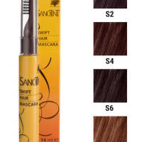 S2 Mascara na odrosty  Ciemny Brąz Black Brown Sanotint 14ml