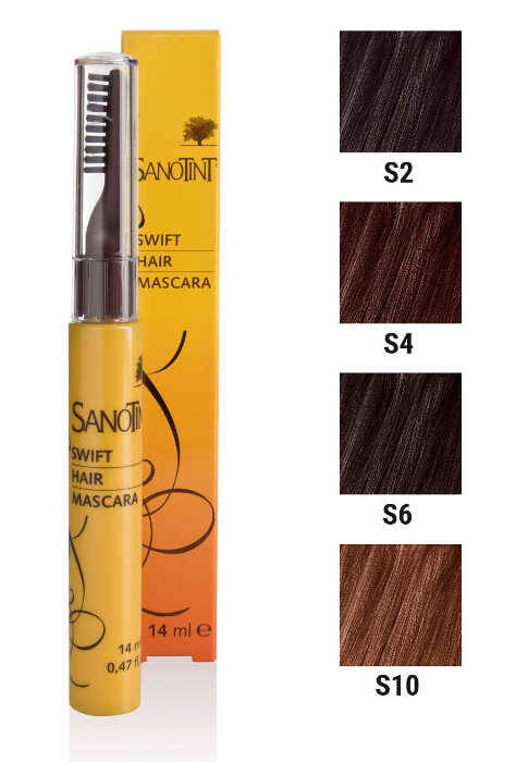 S6 Mascara na odrosty Dark Chestnut S6 Sanotint 14ml